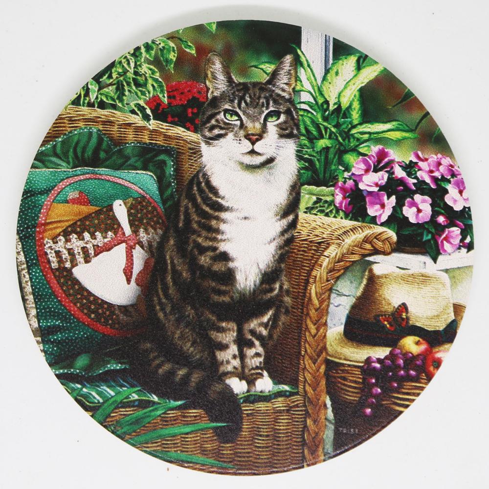 猫コースター(アンティークキャット)ガーデン