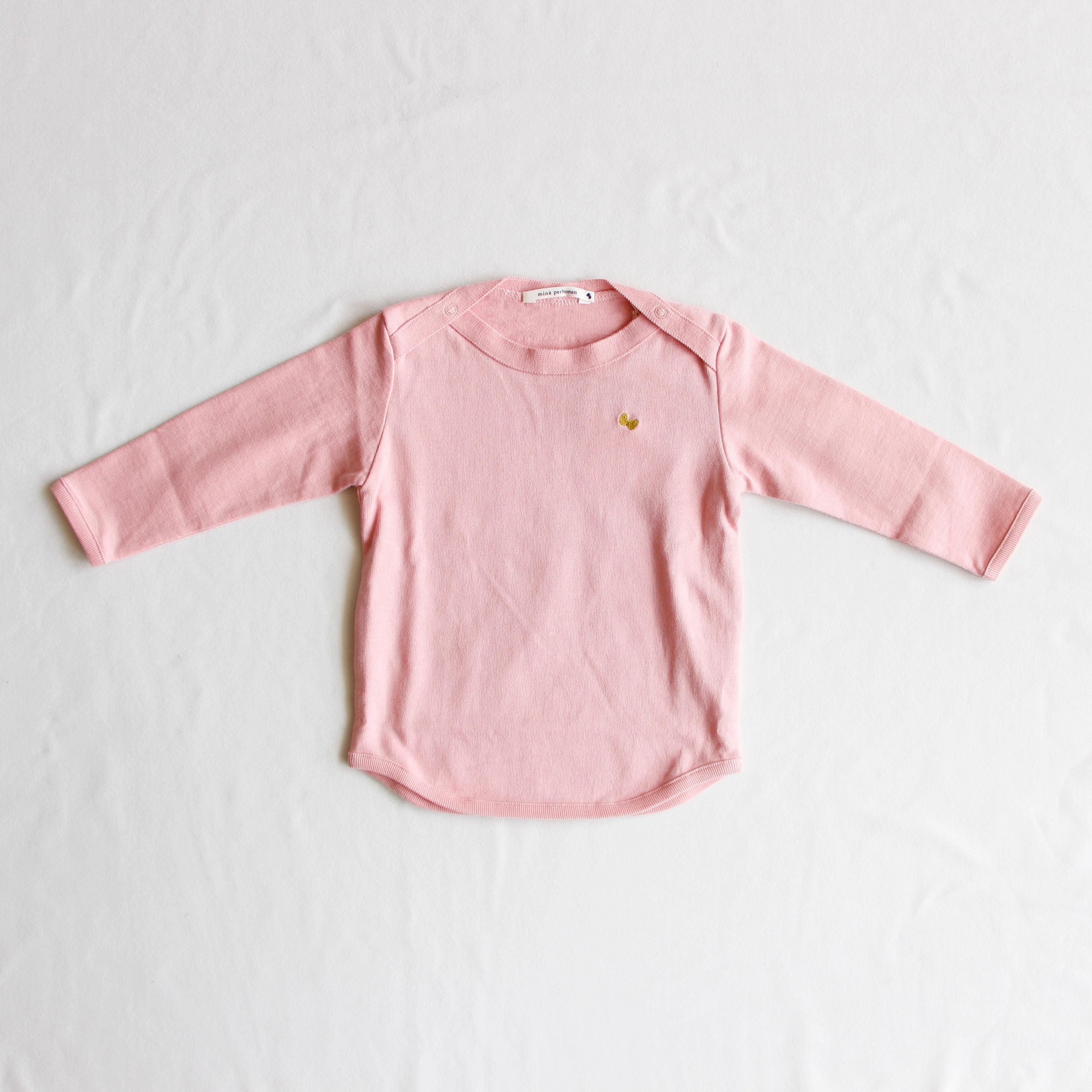 《mina perhonen 2018AW》zutto 長袖カットソー / pink / 80-100cm