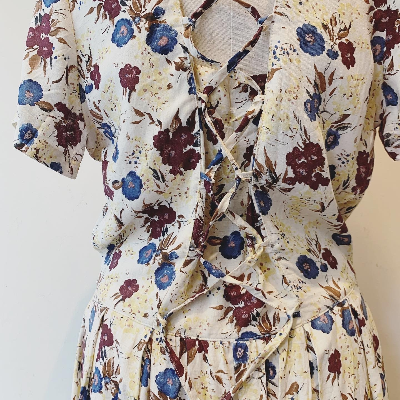 vintage linen mix design onepiece