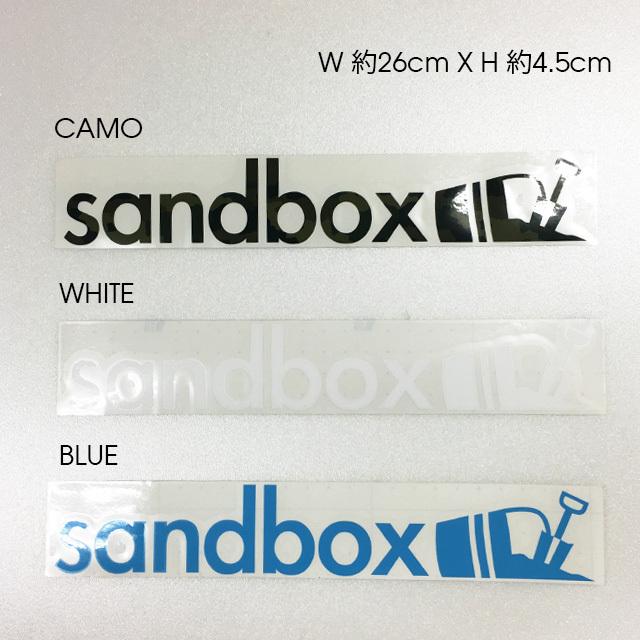 "SANDBOX カッティングステッカー 10""LONG (CAMO / WHITE / BLUE)"