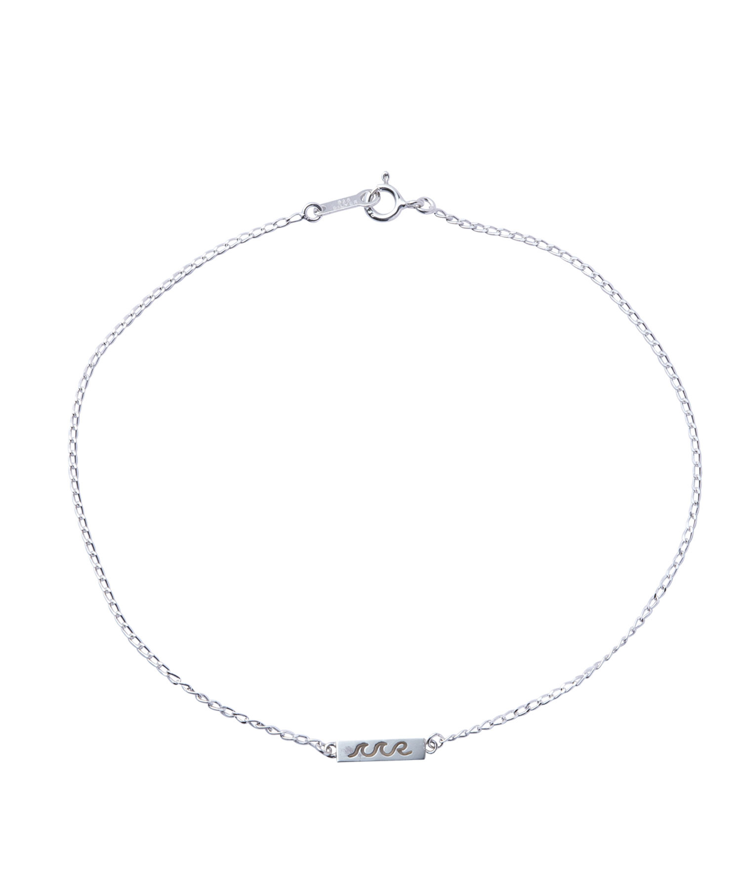 SILVER925 WAVE PLATE ANKLET[REA110]
