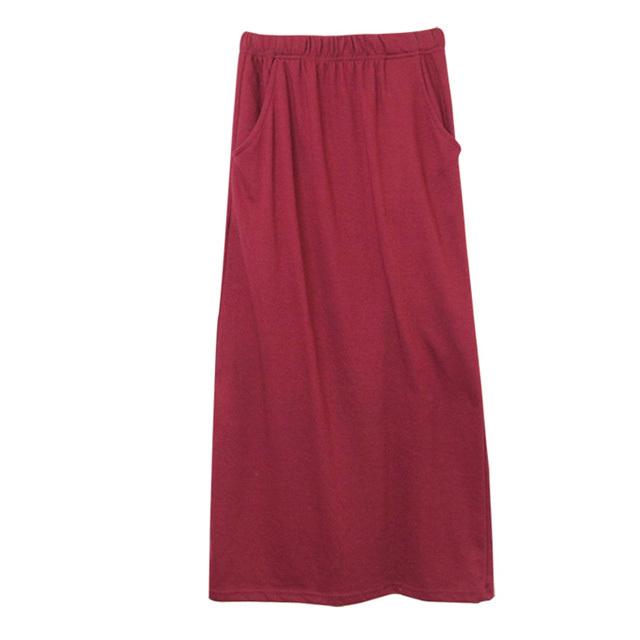 ボルドーロングスカート