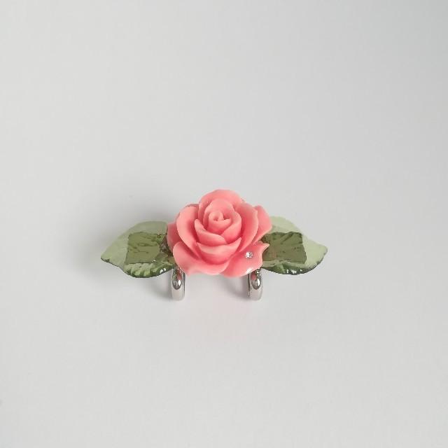 【薔薇の帯留め】