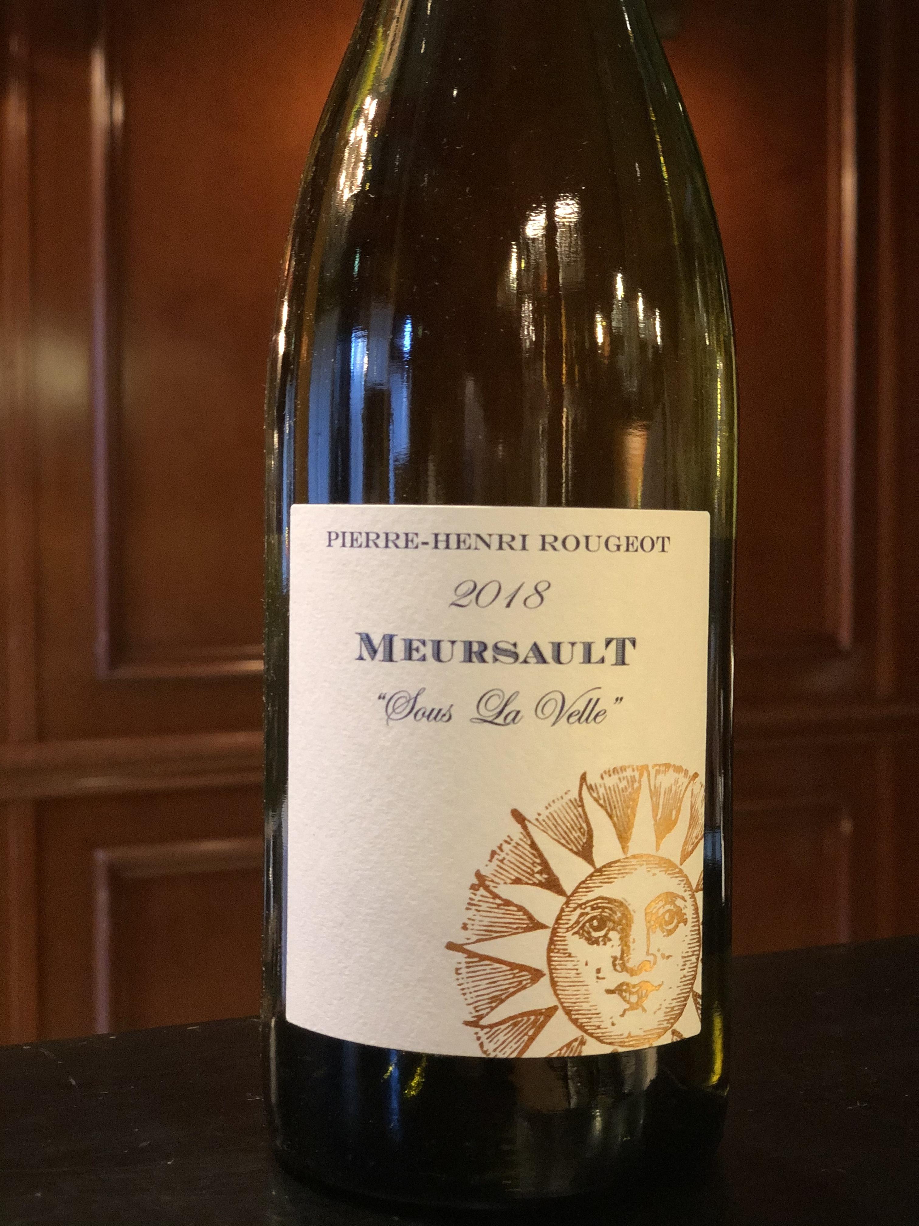 2018年 ムルソー スー ラ ヴェル Pierre Henri Rougeot 白ワイン