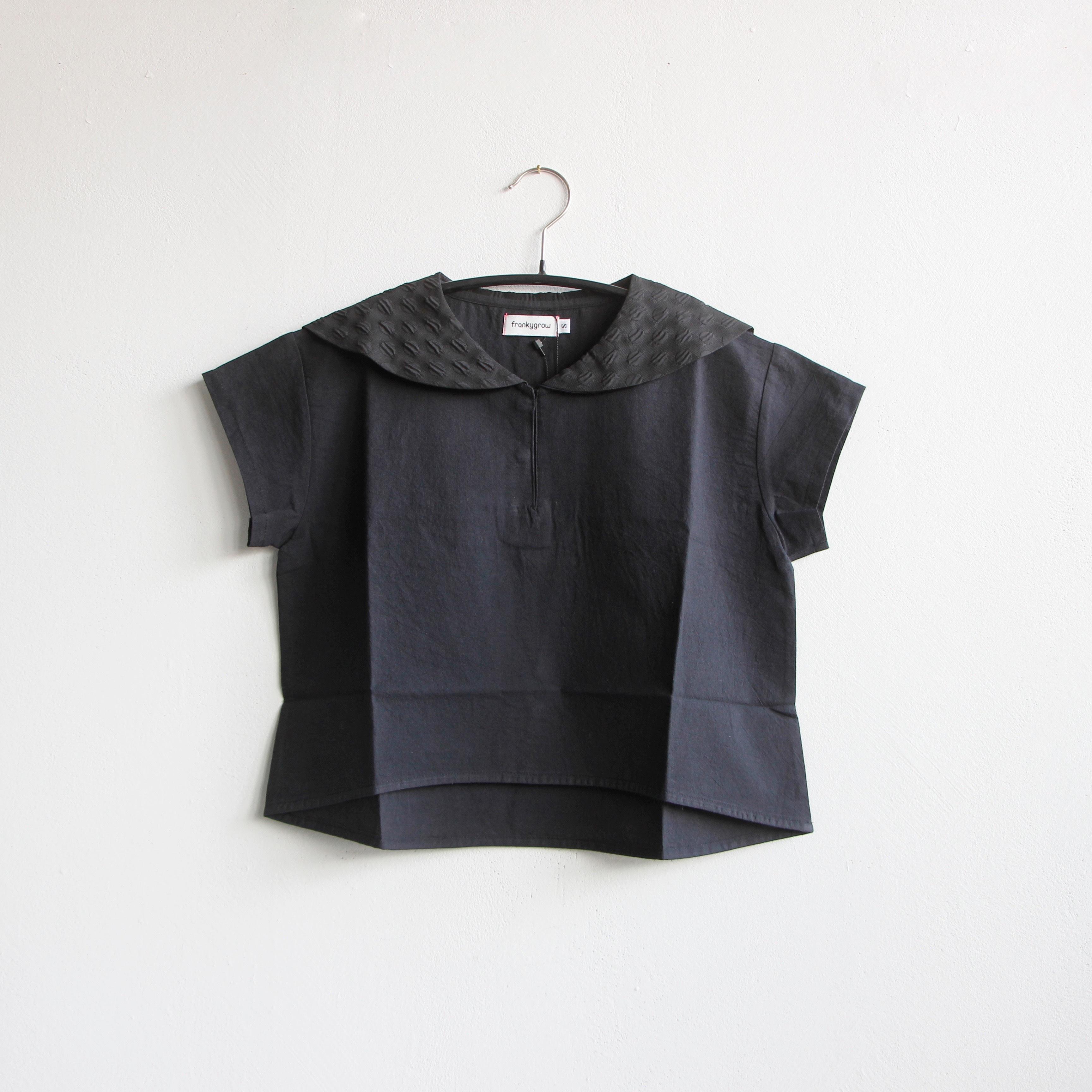 《frankygrow 2020SS》SAILOR COLLAR TP DYED / black / LL