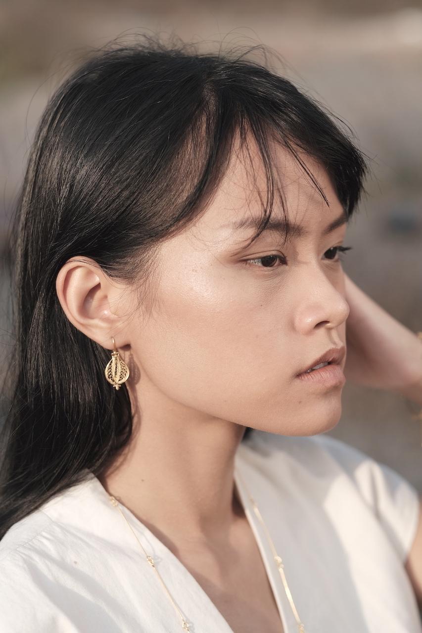 Suzuna(菘) - Earrings / Gold