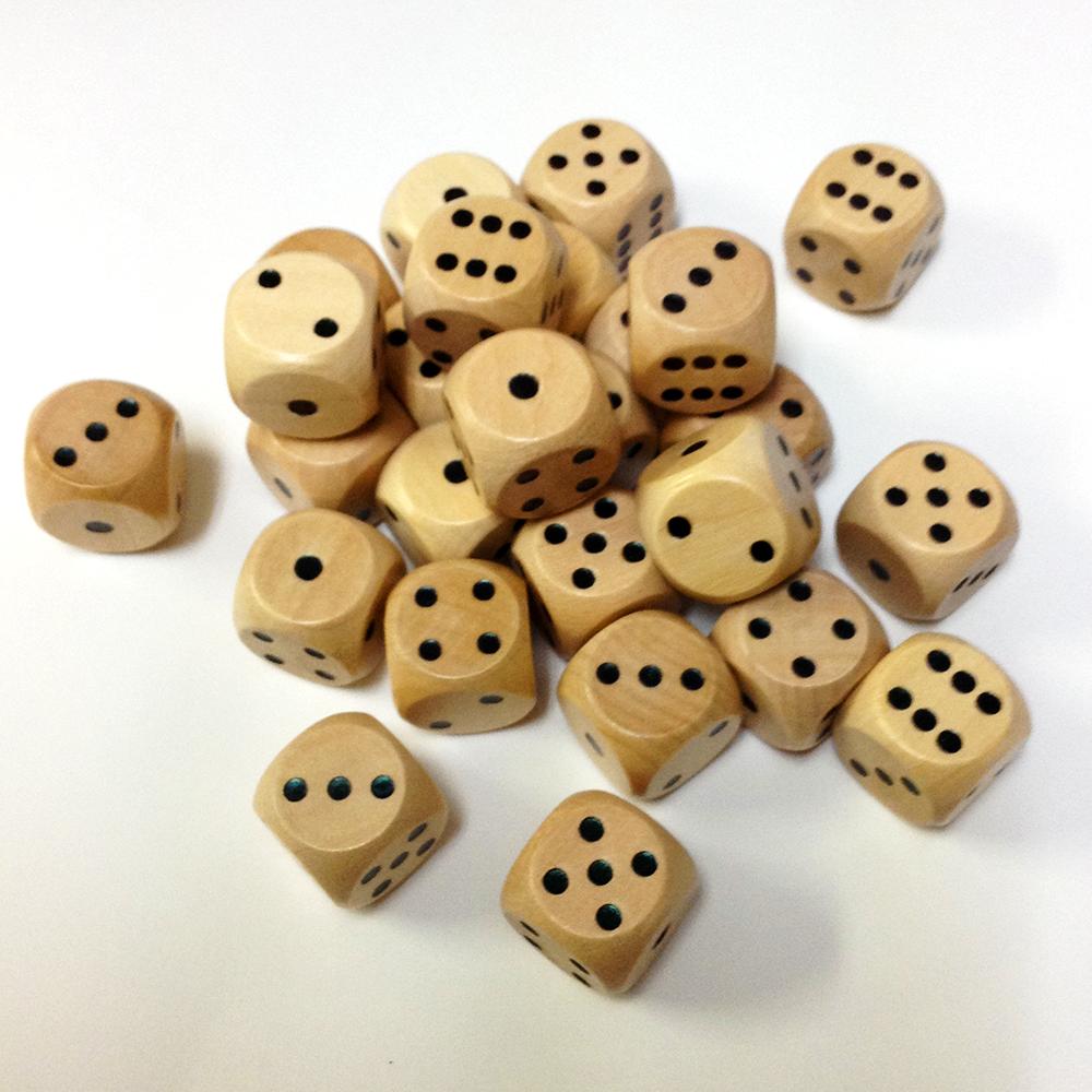 15mm木製ダイス(30個入り) | 駒...