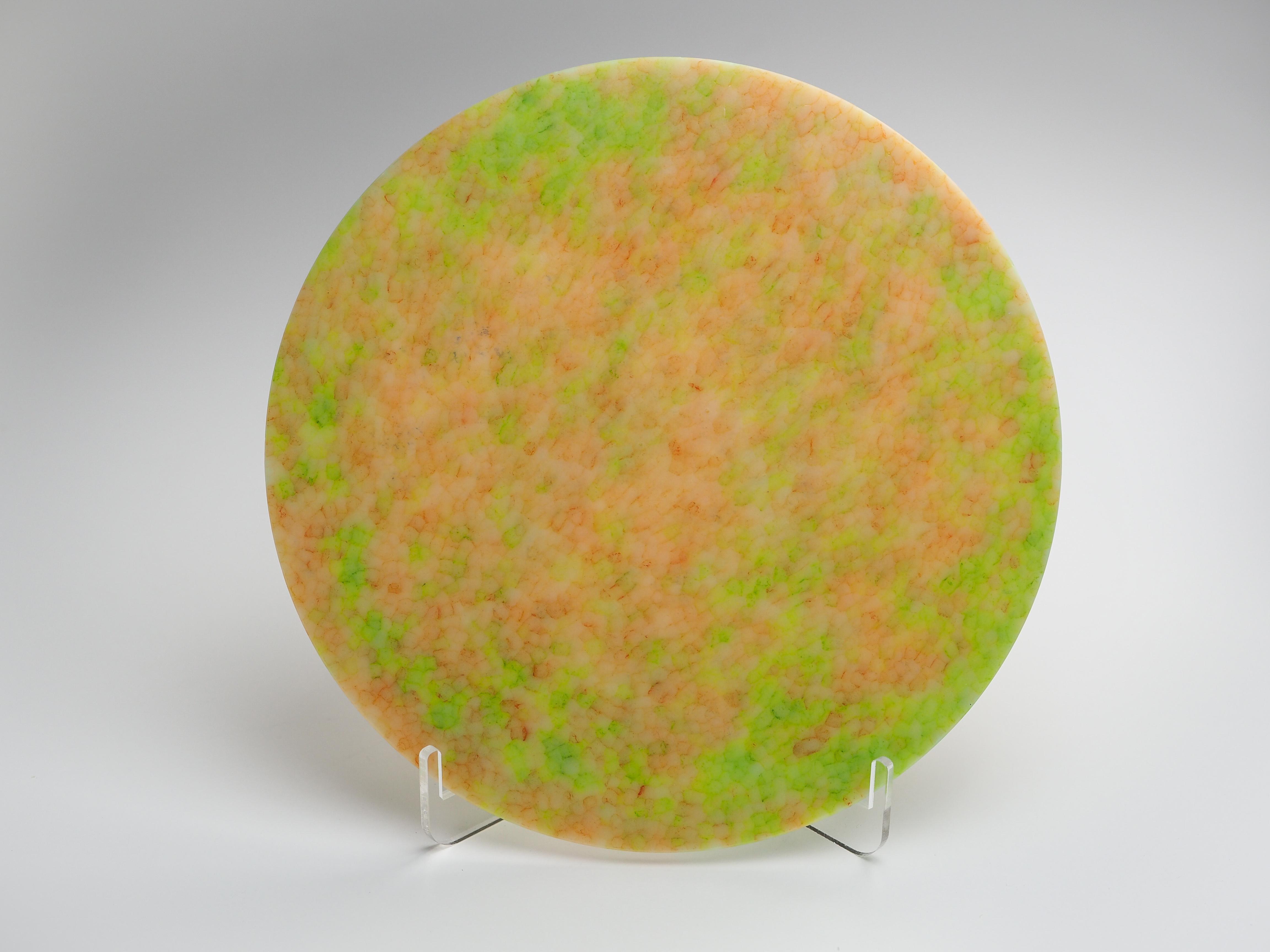 インテリアプレート-N(黄緑×オレンジ)ip-n-5