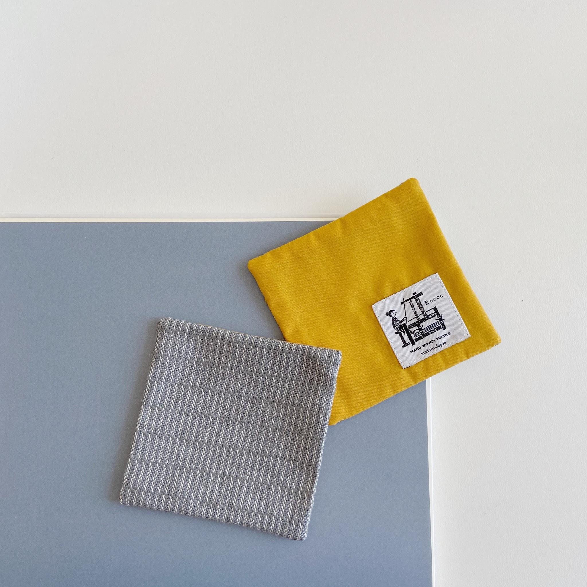 手織りコースター(Coaster grey Alinea )