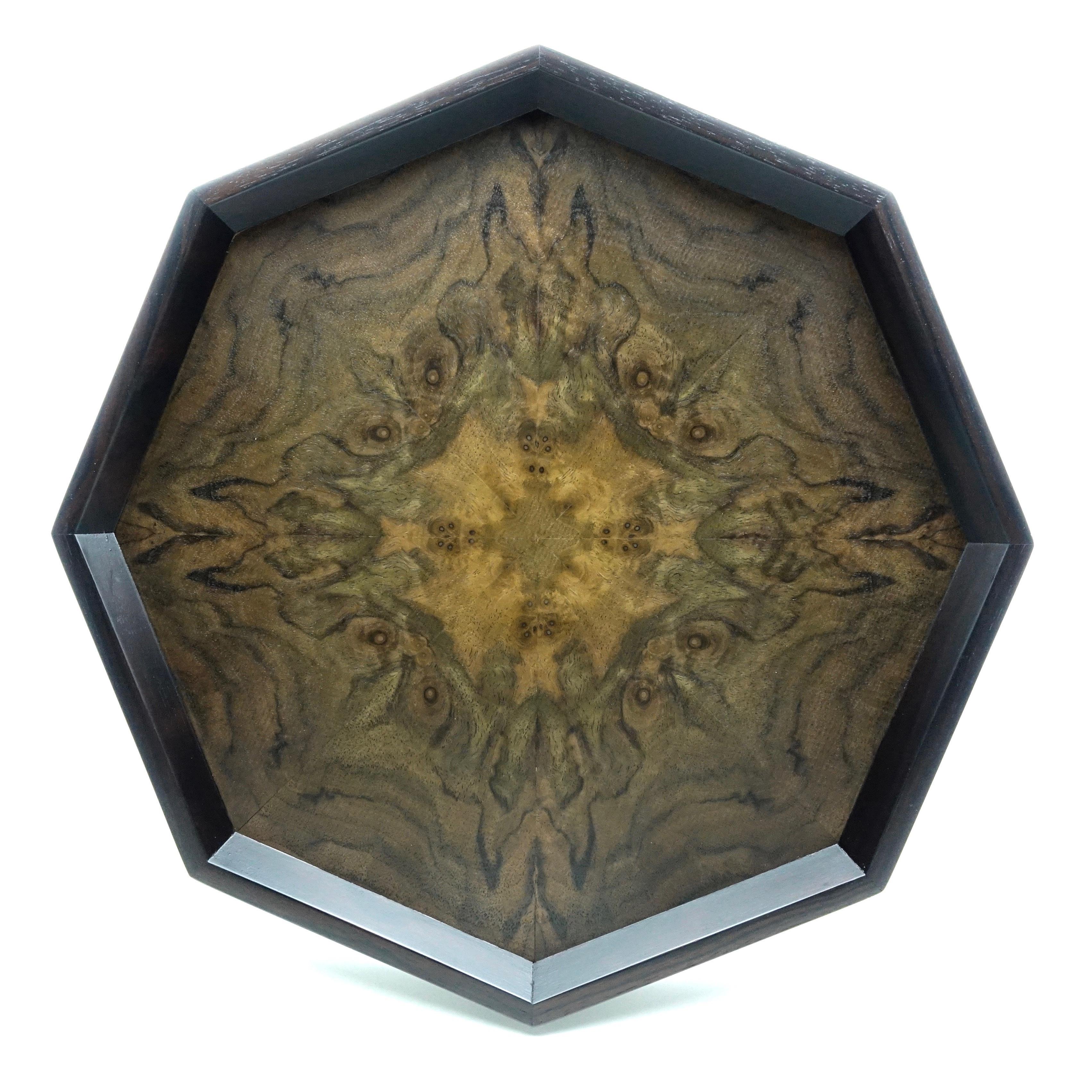 Claro Walnut 八角形のトレー OBCW-0180