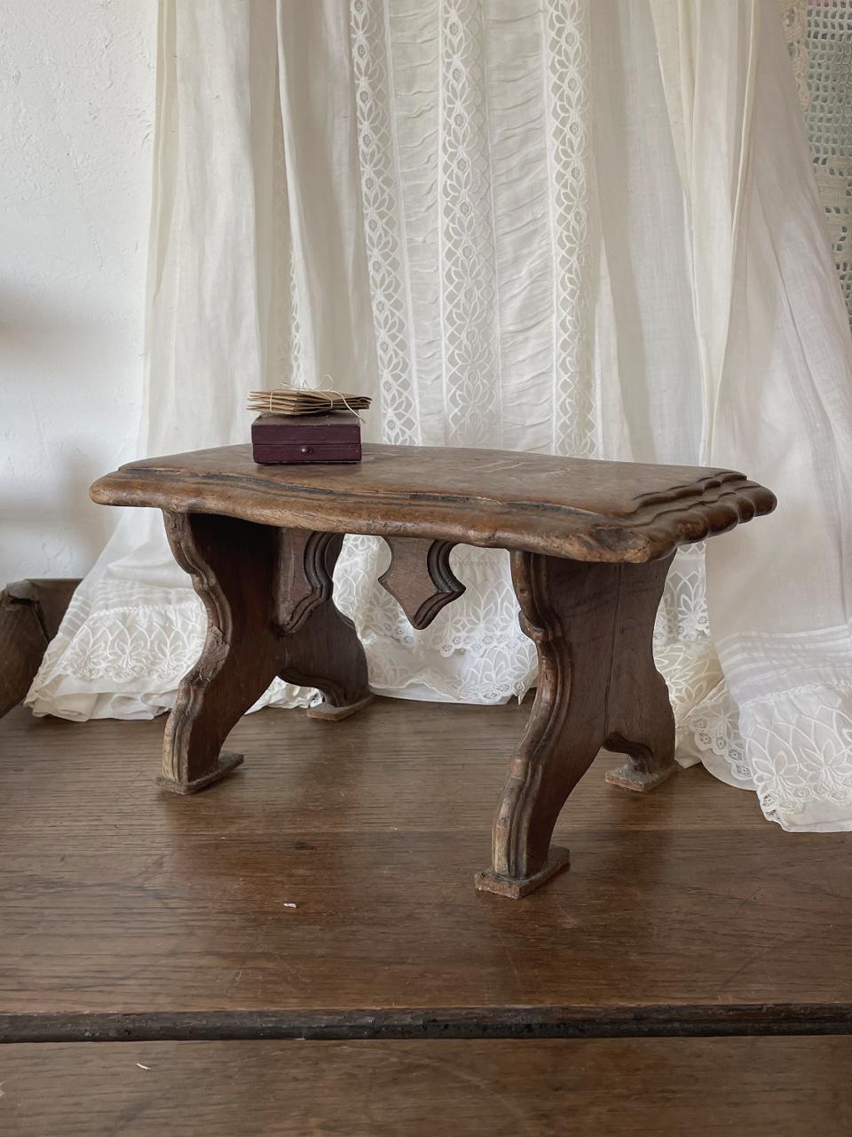 木製スツール 踏み台 花台