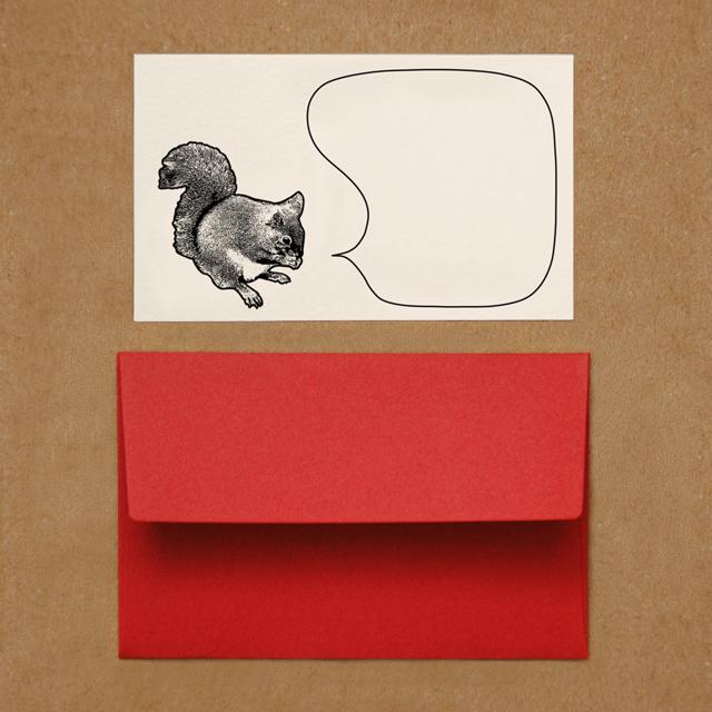 封筒つきメッセージカード(リス)