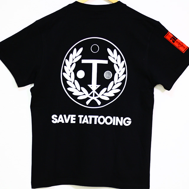 Charity T-Shirt for Supporting SAVE TATTOOING (Black)