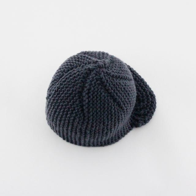 ウールニット帽(キャップタイプ・丈が深め)