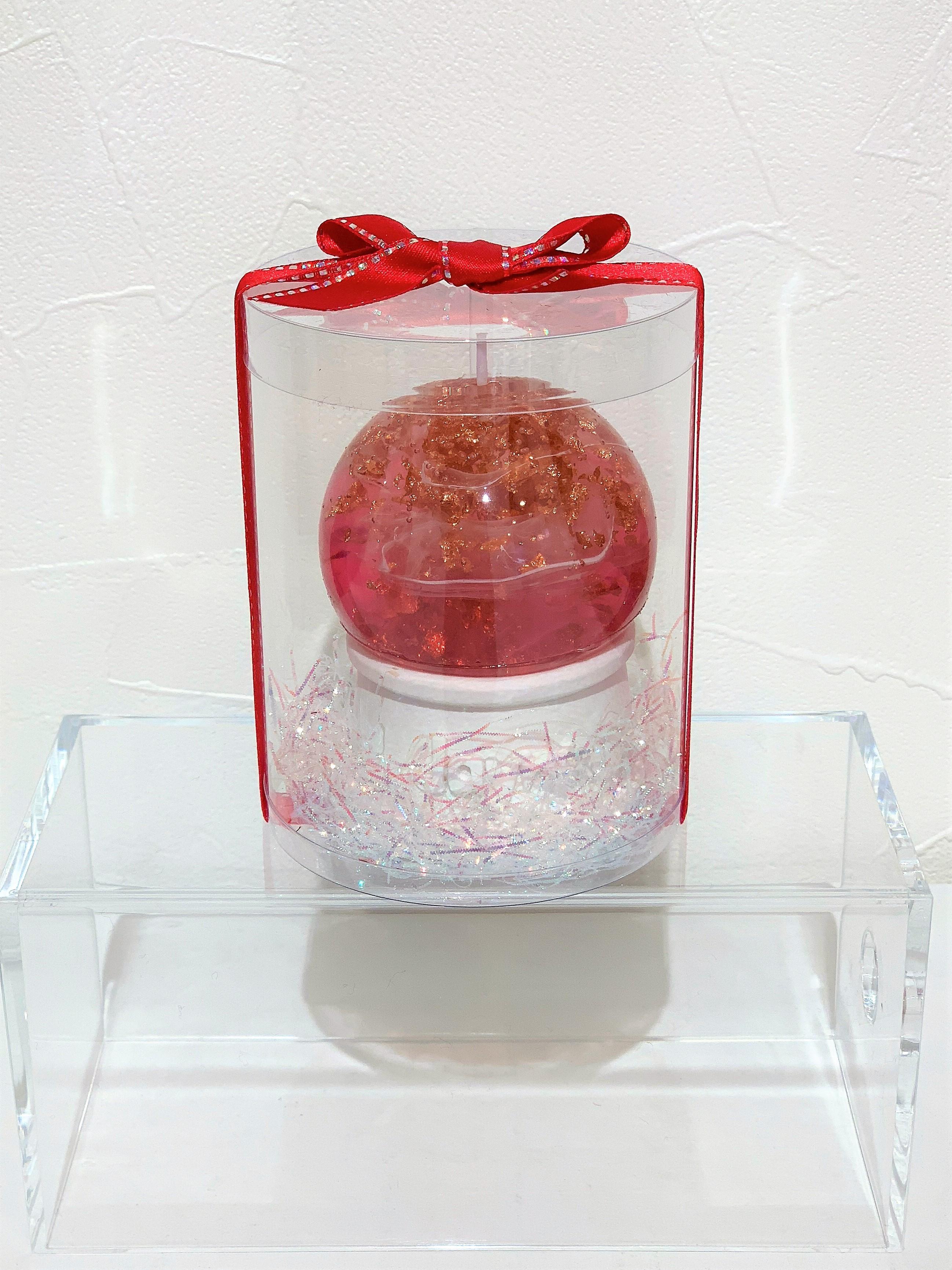 グラスキャンドル(ピンク&ゴールド)