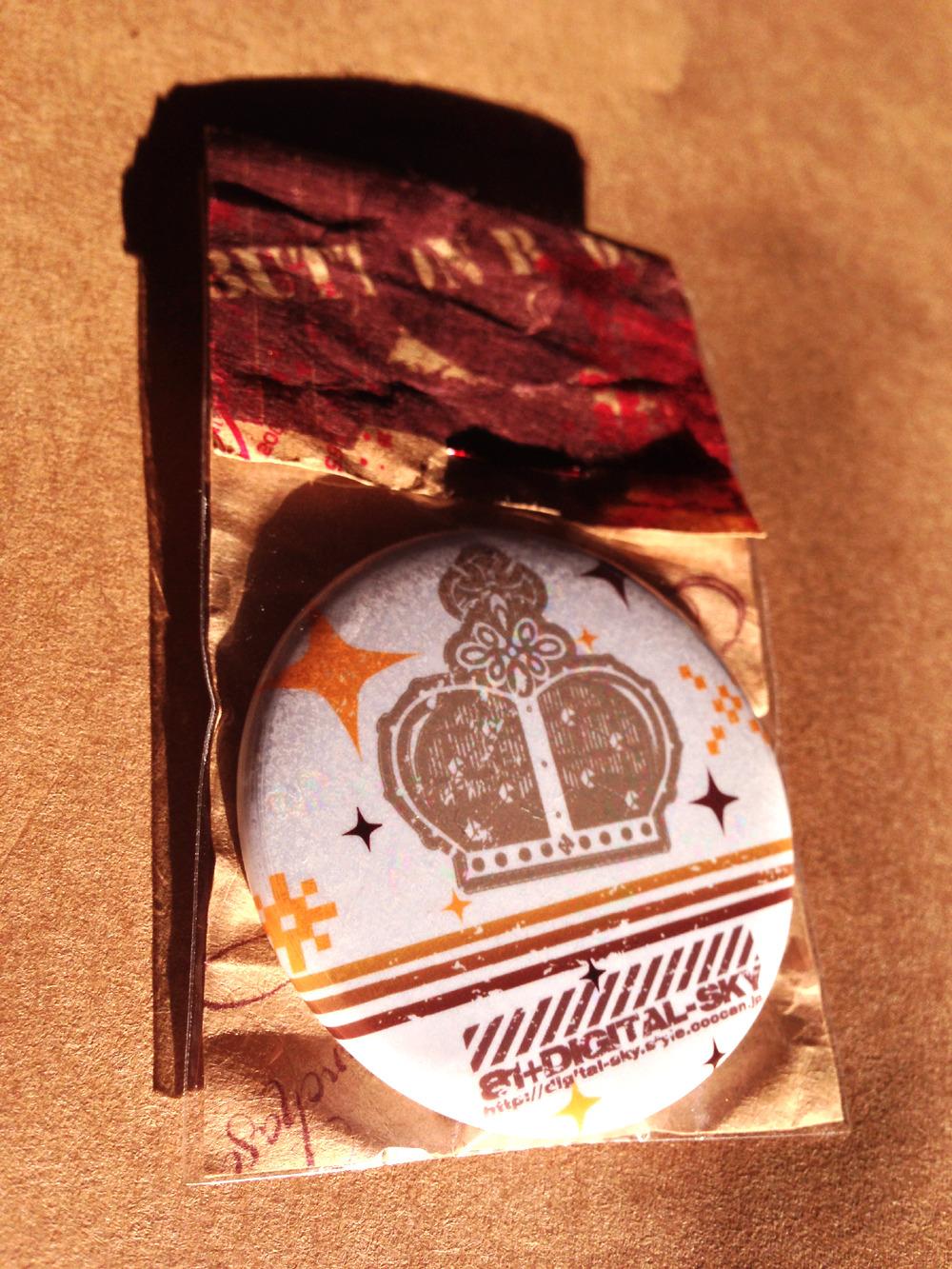 バッヂ大 DSクラウン/Big button badge