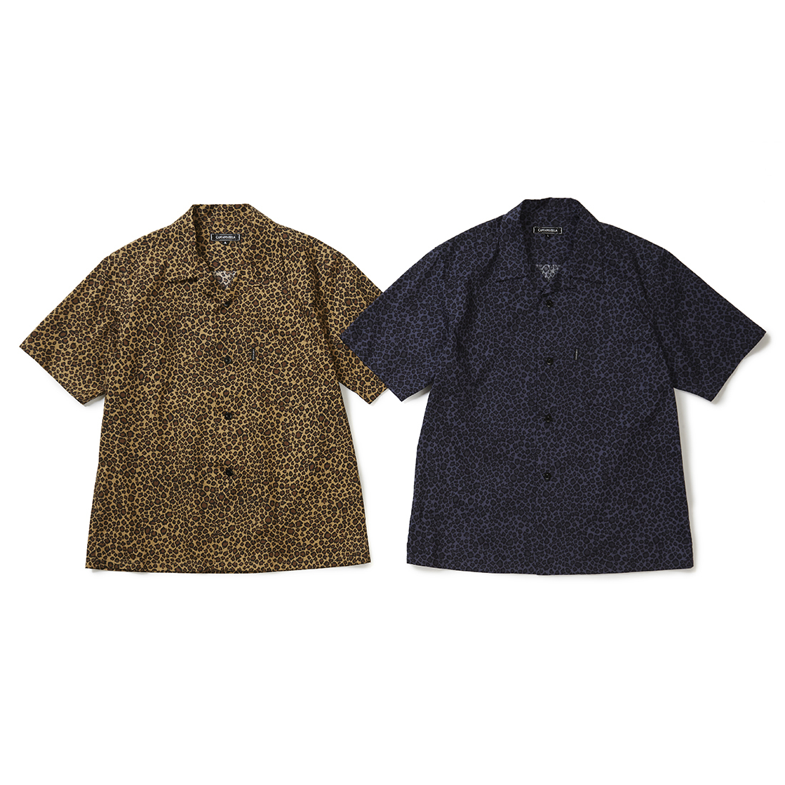 CAPTAINS HELM #LEOPARD PRINT OPEN WIDE S/S SHIRTS