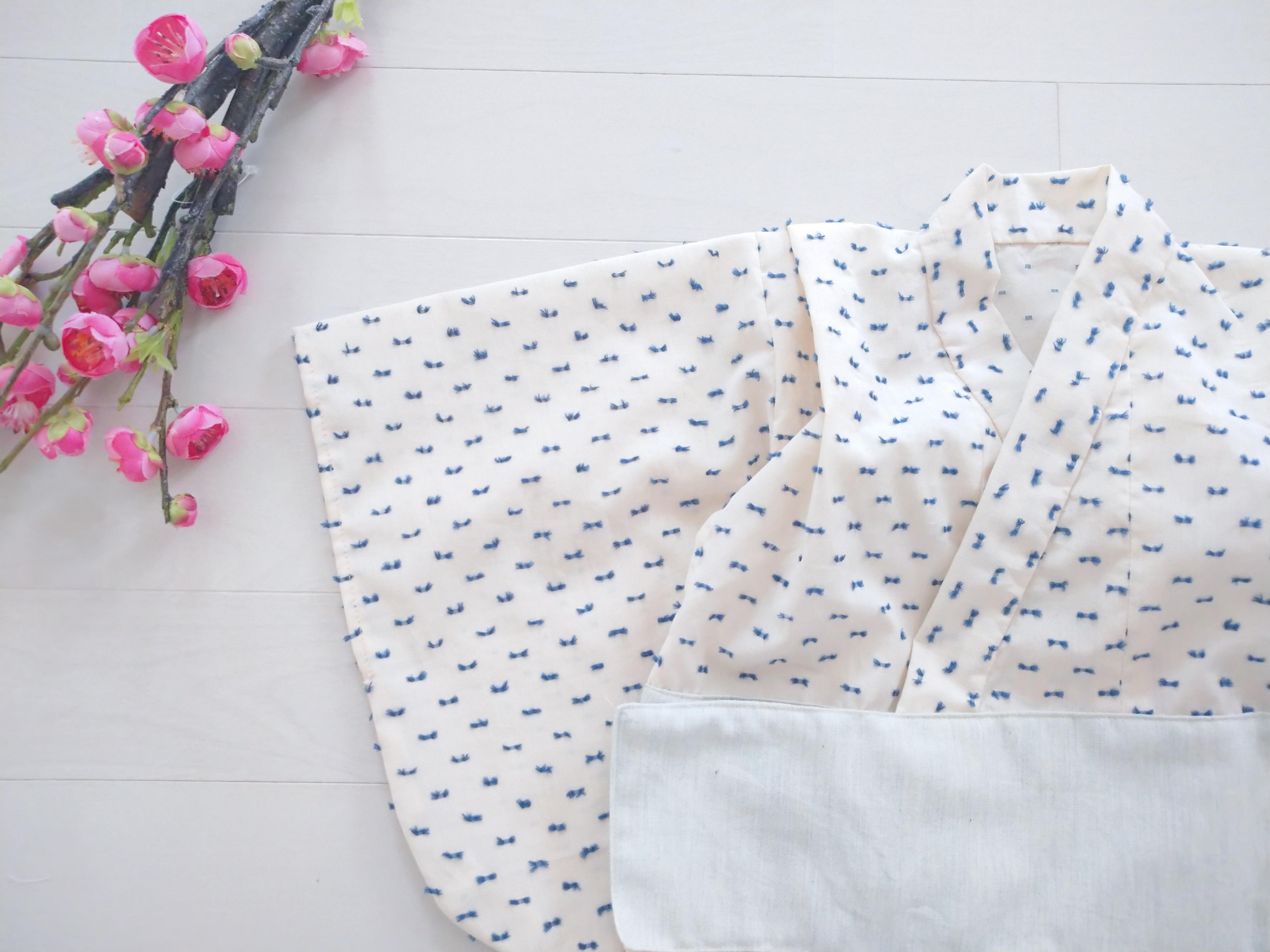 ファースト着物プレミアム ブルーベリー  オーガニックコットン、浴衣