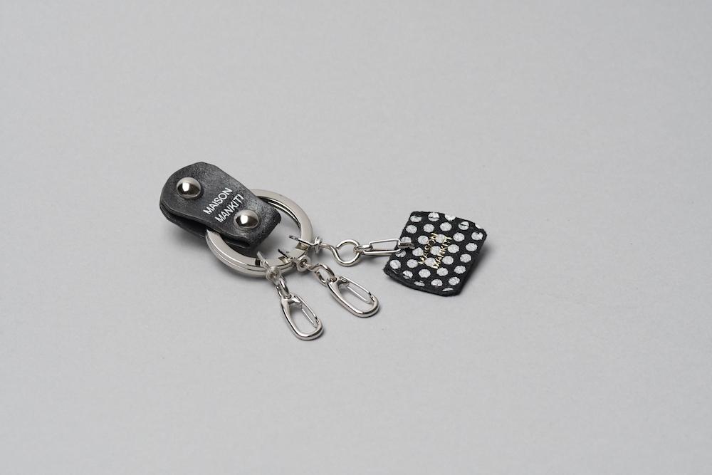 KEY RING・CAP ■B・dot■_本革真鍮キーリング・キーキャップセット_ - 画像2