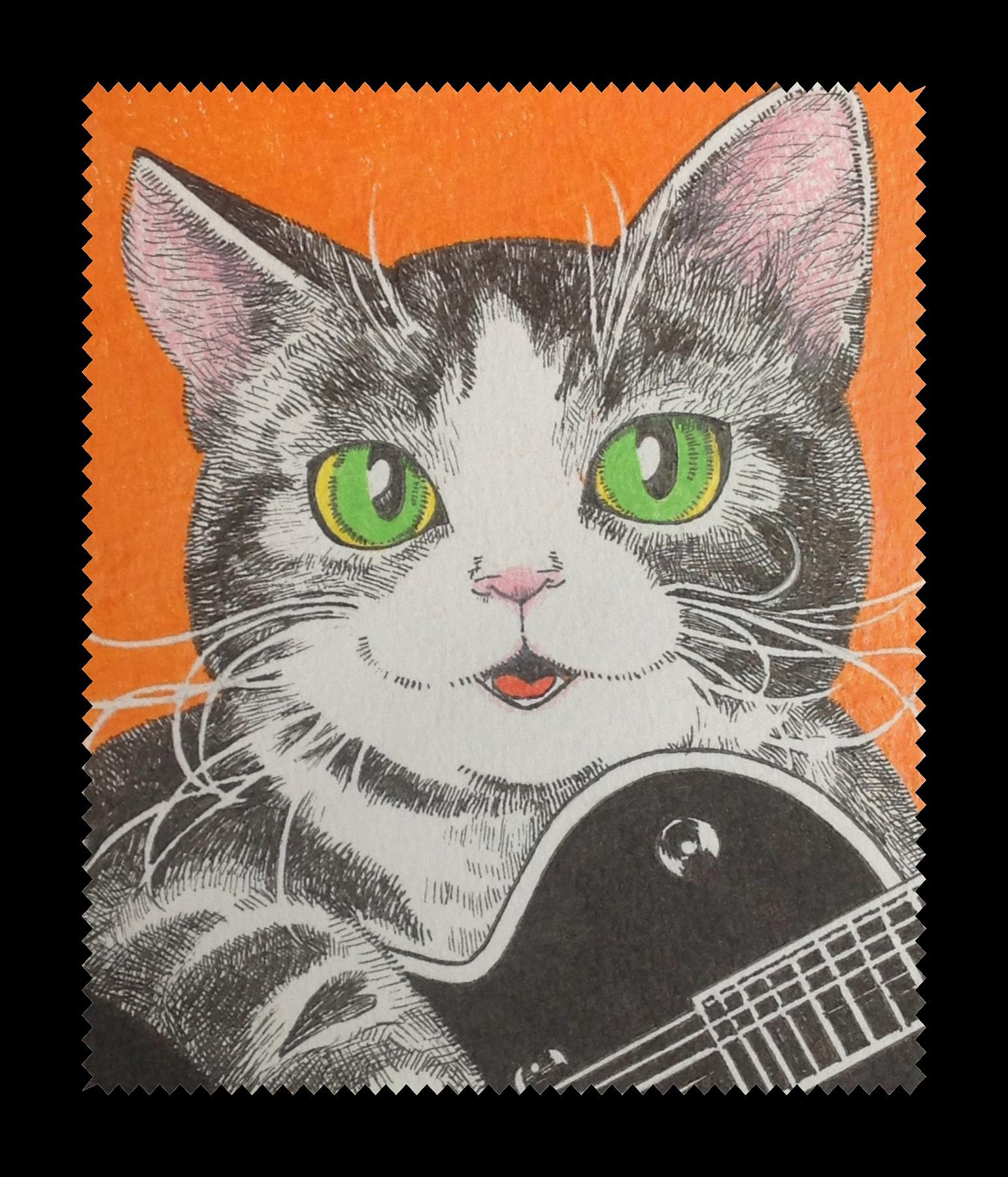 猫とギター メガネ拭き