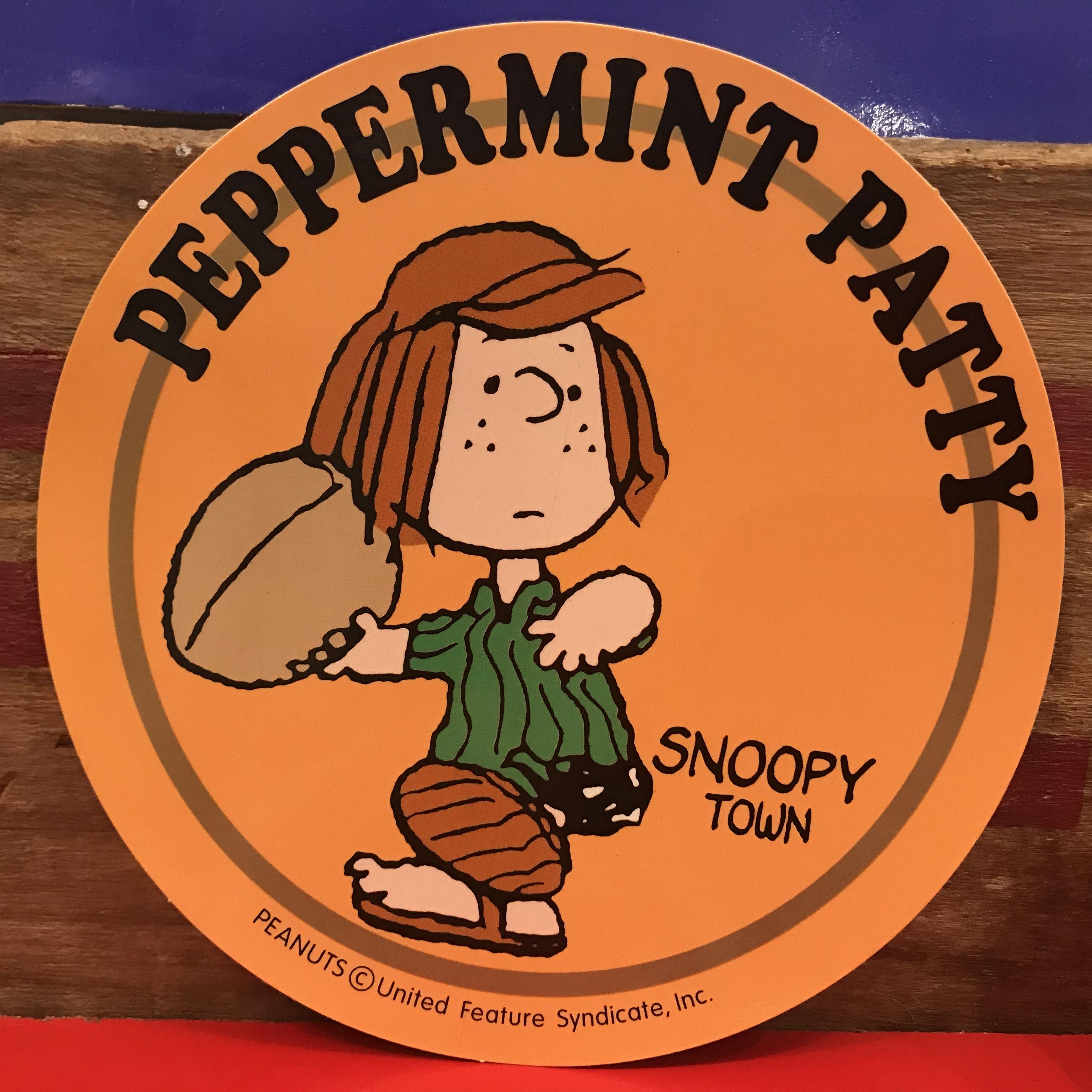 スヌーピー PEANUTS ペパーミントパティ 特大ステッカー 限定品 2000年製