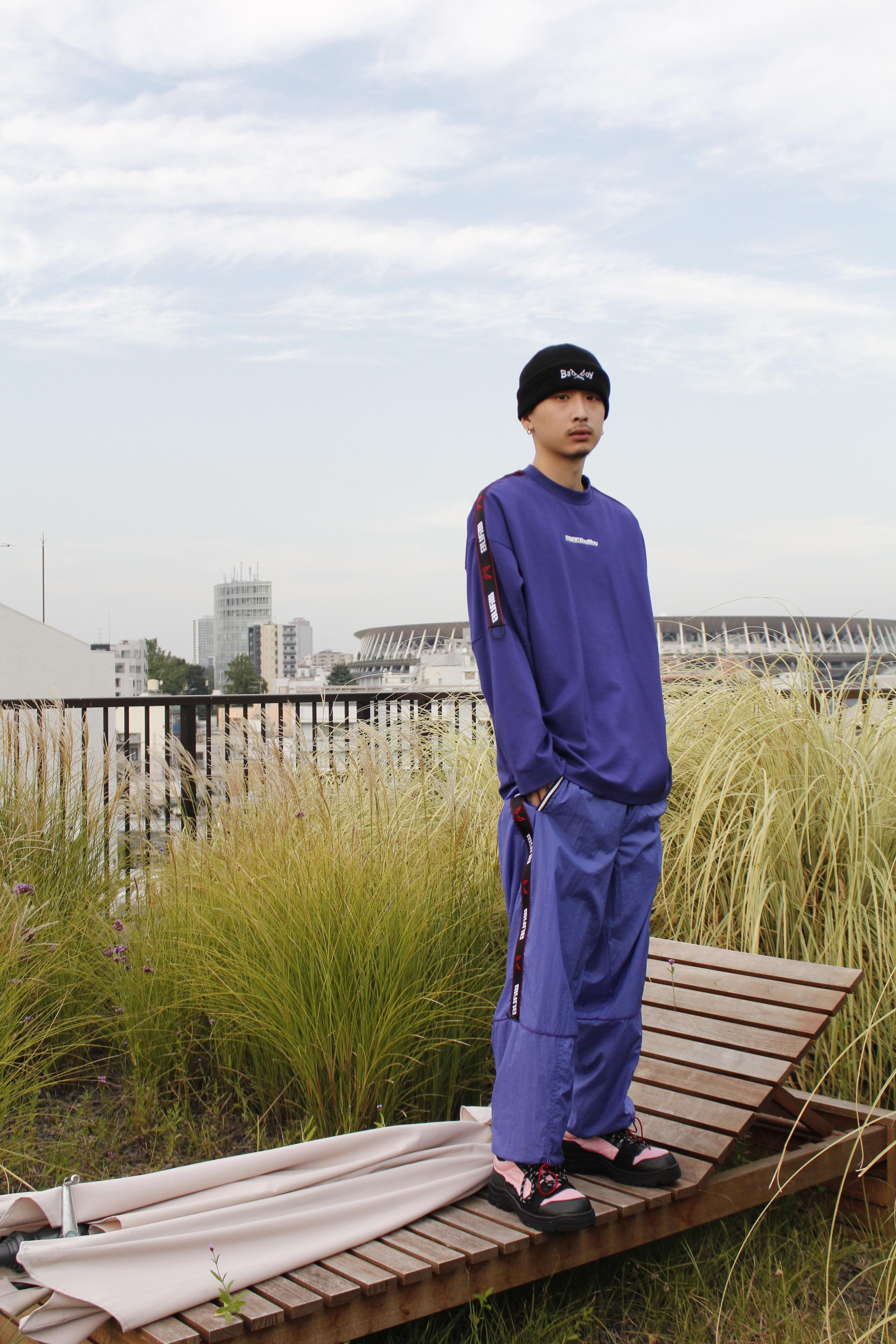 MYne × BADBOY Track pants / BLUE - 画像4