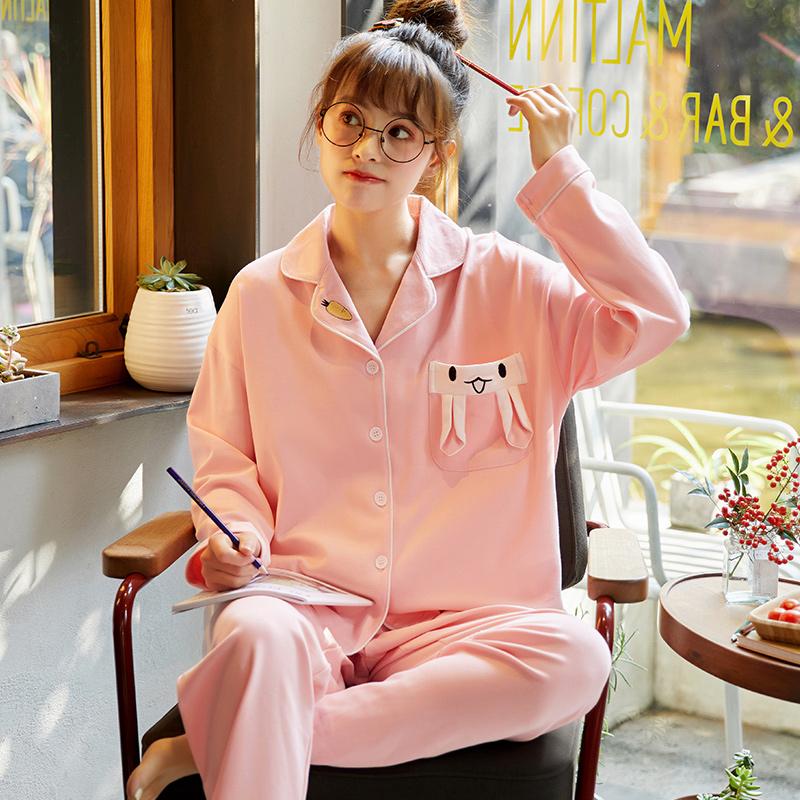 【パジャマ】2点セットプリントカジュアルゆったり長袖パジャマ26508198
