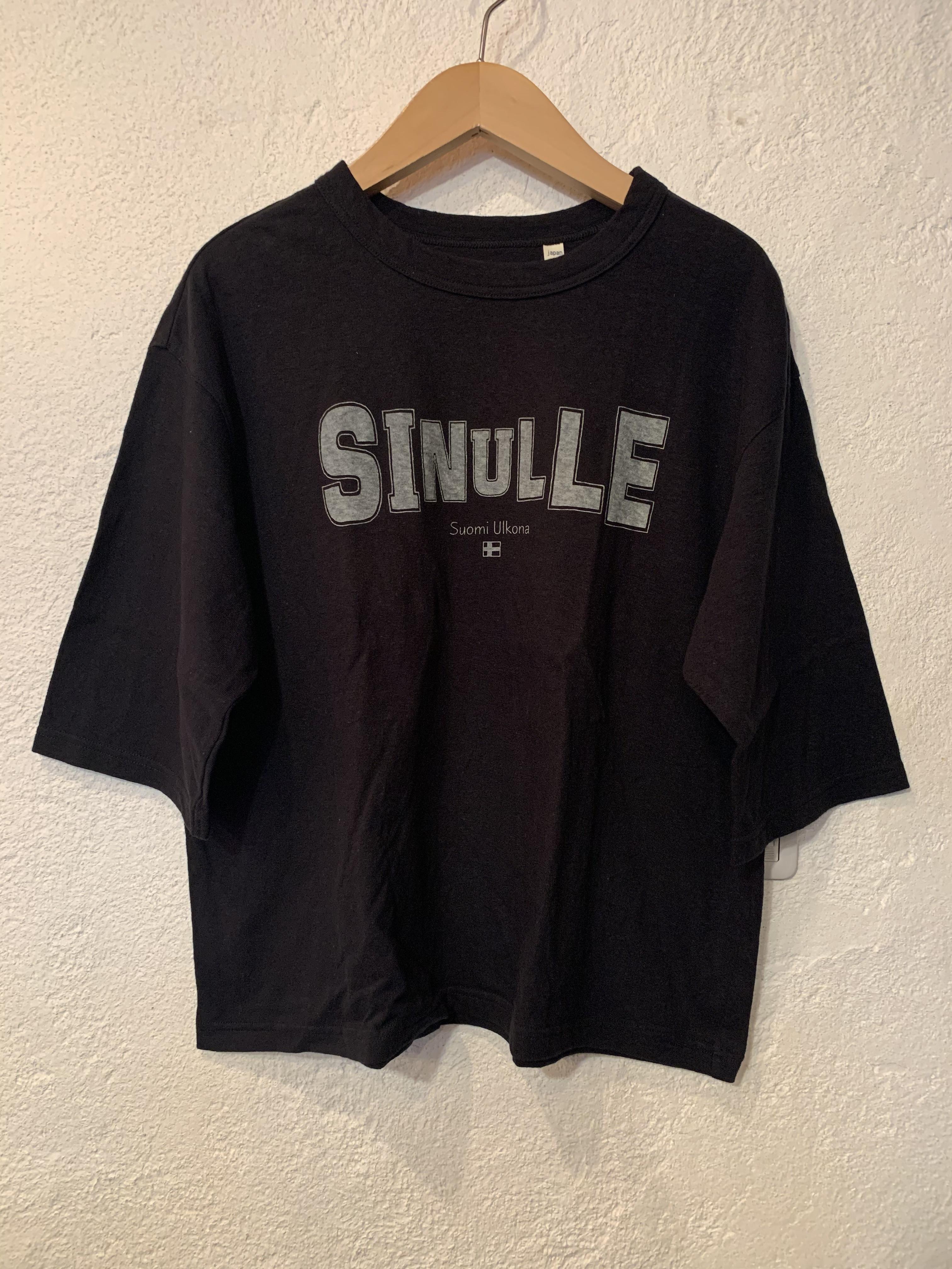 Chloro sister/toujours/プリント5分袖Tシャツ ブラック