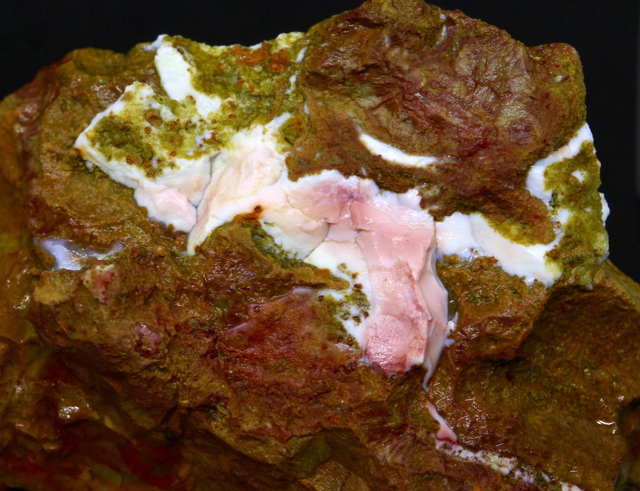 レア!ピンクオパール + スパイダーウェブジャスパー  144,6g SPJ016 鉱物 天然石 原石 パワーストーン