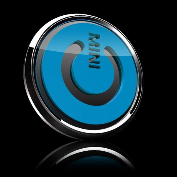 ゴーバッジ(3D)(LC0034 - 3D MINI POWER BLUE) - 画像2