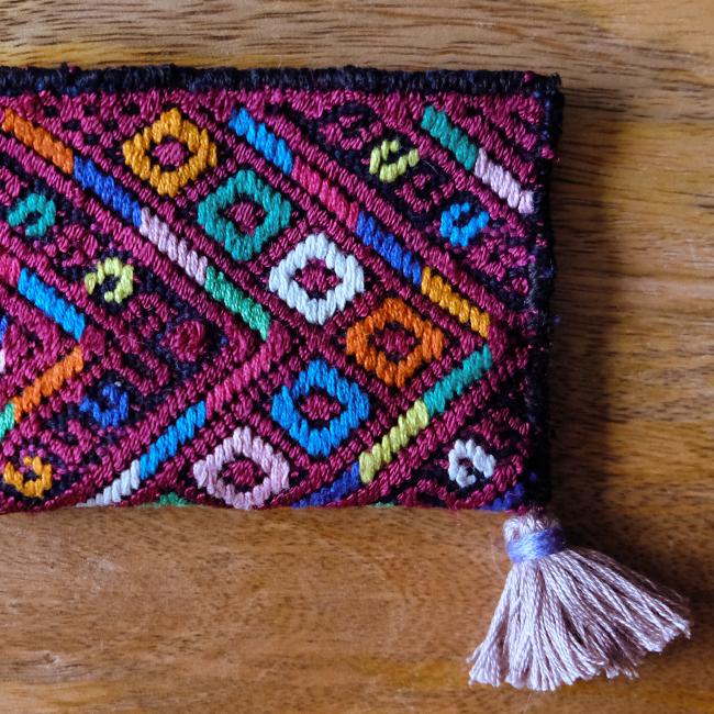 &JOURNEY original ナワラ織りのパスケース /293a/ GUATEMALA グアテマラ