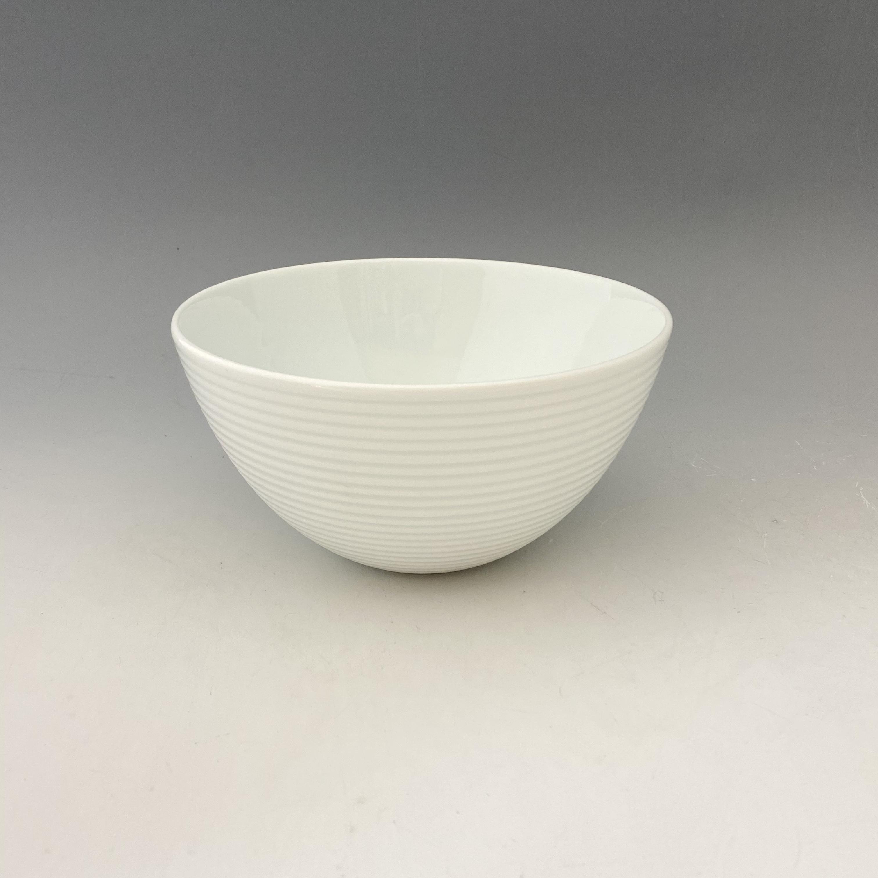 【中尾恭純】白磁線段麺鉢