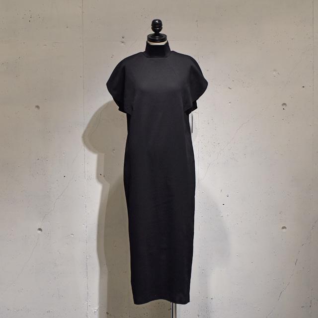 Mannequins JAPON / ROUND SLEEVE RIB DRESS / Black
