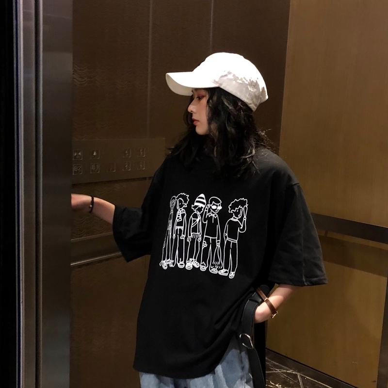 【送料無料】カジュアルプリントビッグTシャツ B19033102