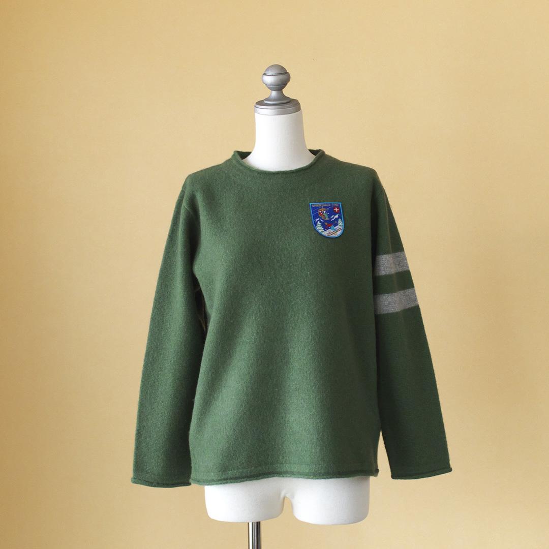 快晴堂 カイセイドウ レトロスキーセーター UNIクルーネックセーター