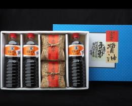 味噌1㎏×2・醤油1㍑×3セット B-3