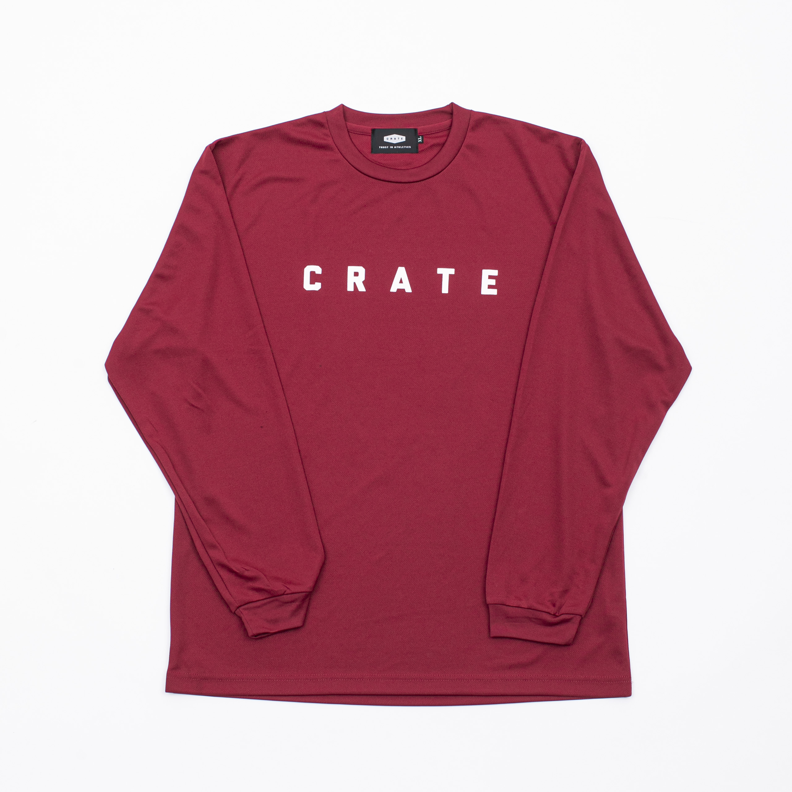Crate Simple Logo L/S Mesh Tee Burgundy