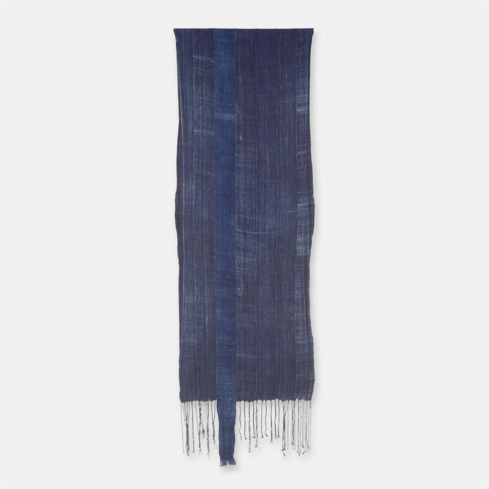 ブルキナファソ モシ族 ヴィンテージの藍染め布 古布 SLI005