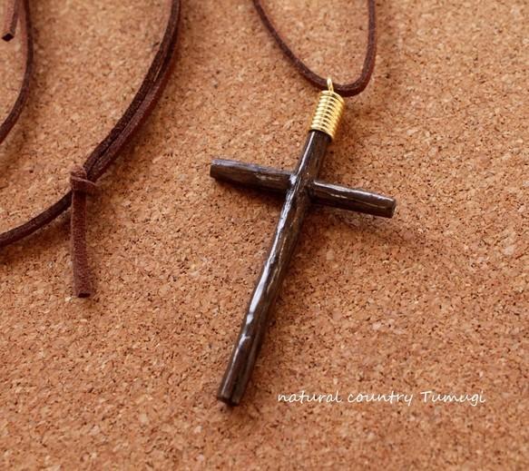 木の十字架(クロス)ネックレス#2[在庫あり][送料無料]