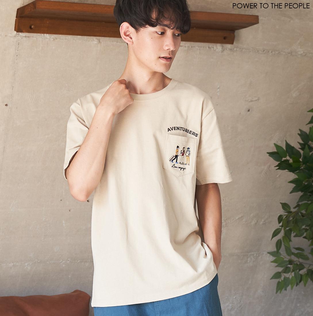 JOURNEY柄ポケット刺繍Tシャツ NO0512140