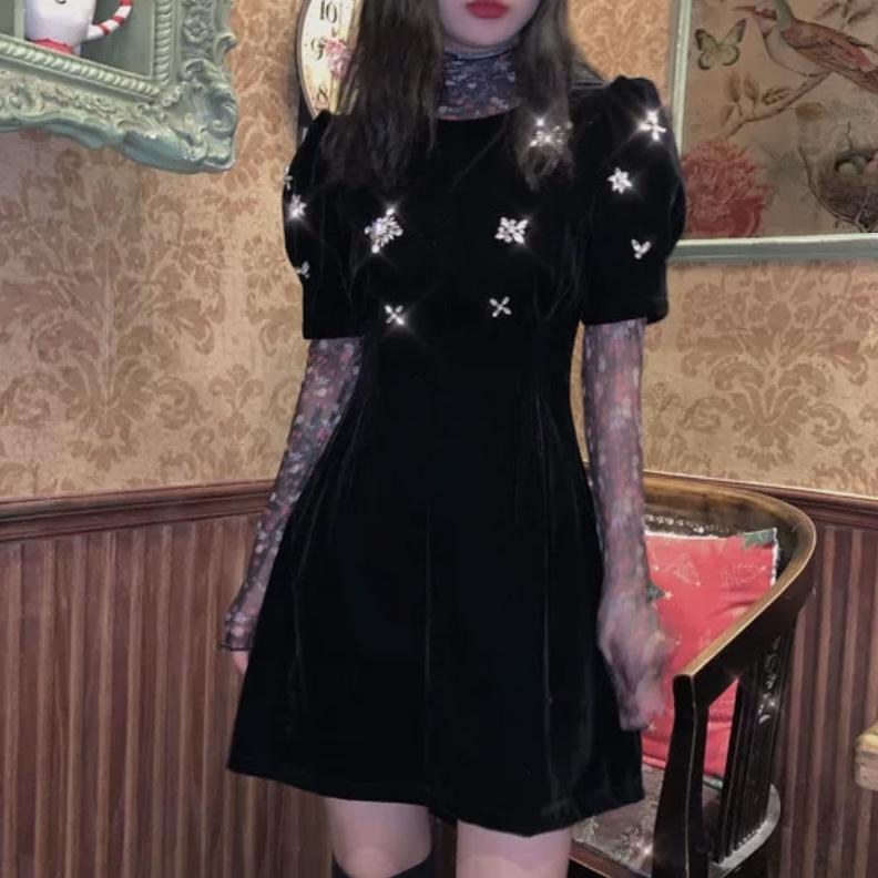 many studs dress