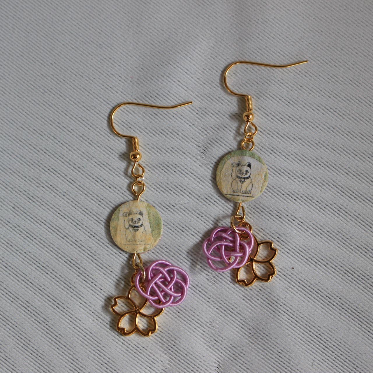 和紙&水引ピアス④<japanese paper & mizuhiki earrings④>
