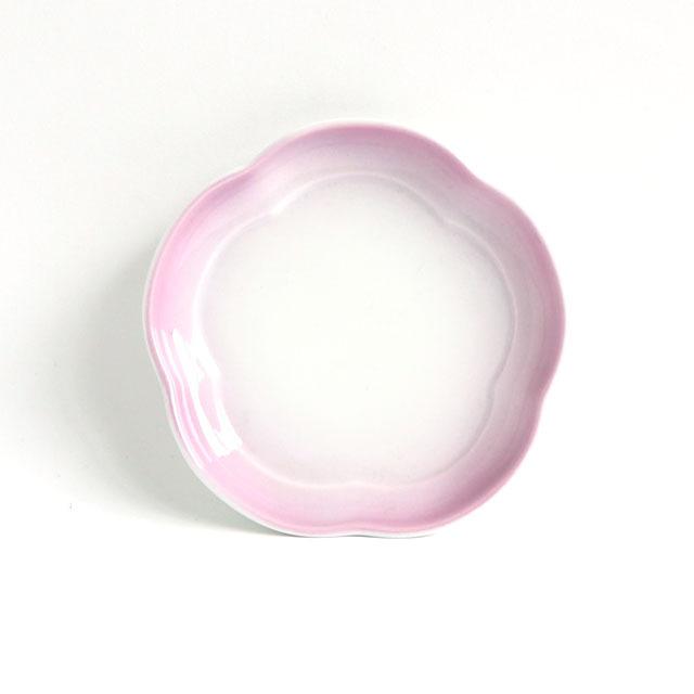 【2053-2750】花丸皿(11.5cm) 可愛いカタチの小皿 ぼかし紫
