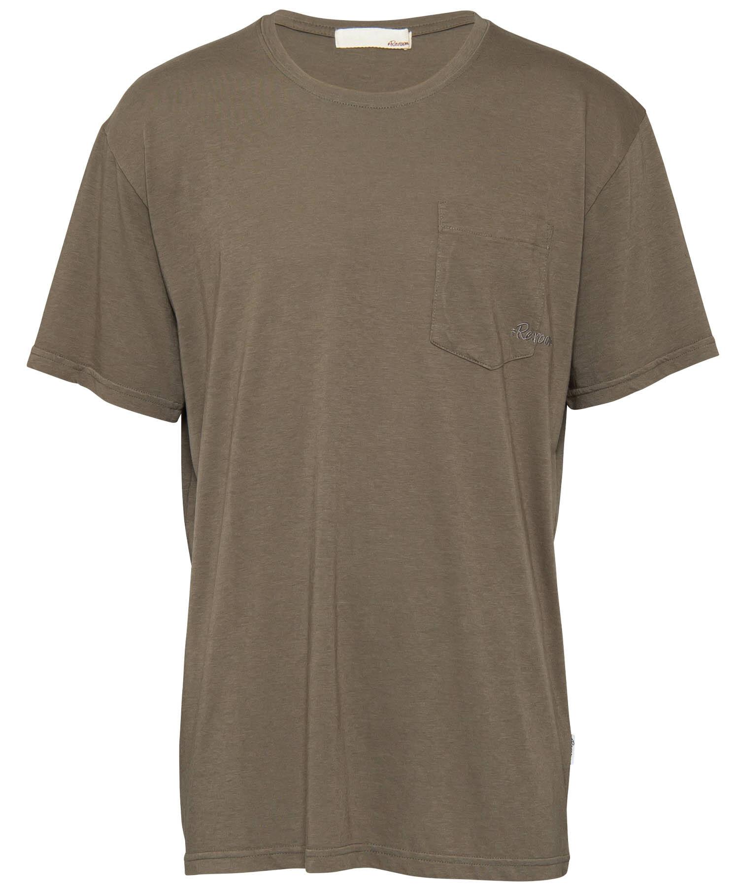 EMBROIDERY LOGO POCKET T-shirt[REC298]