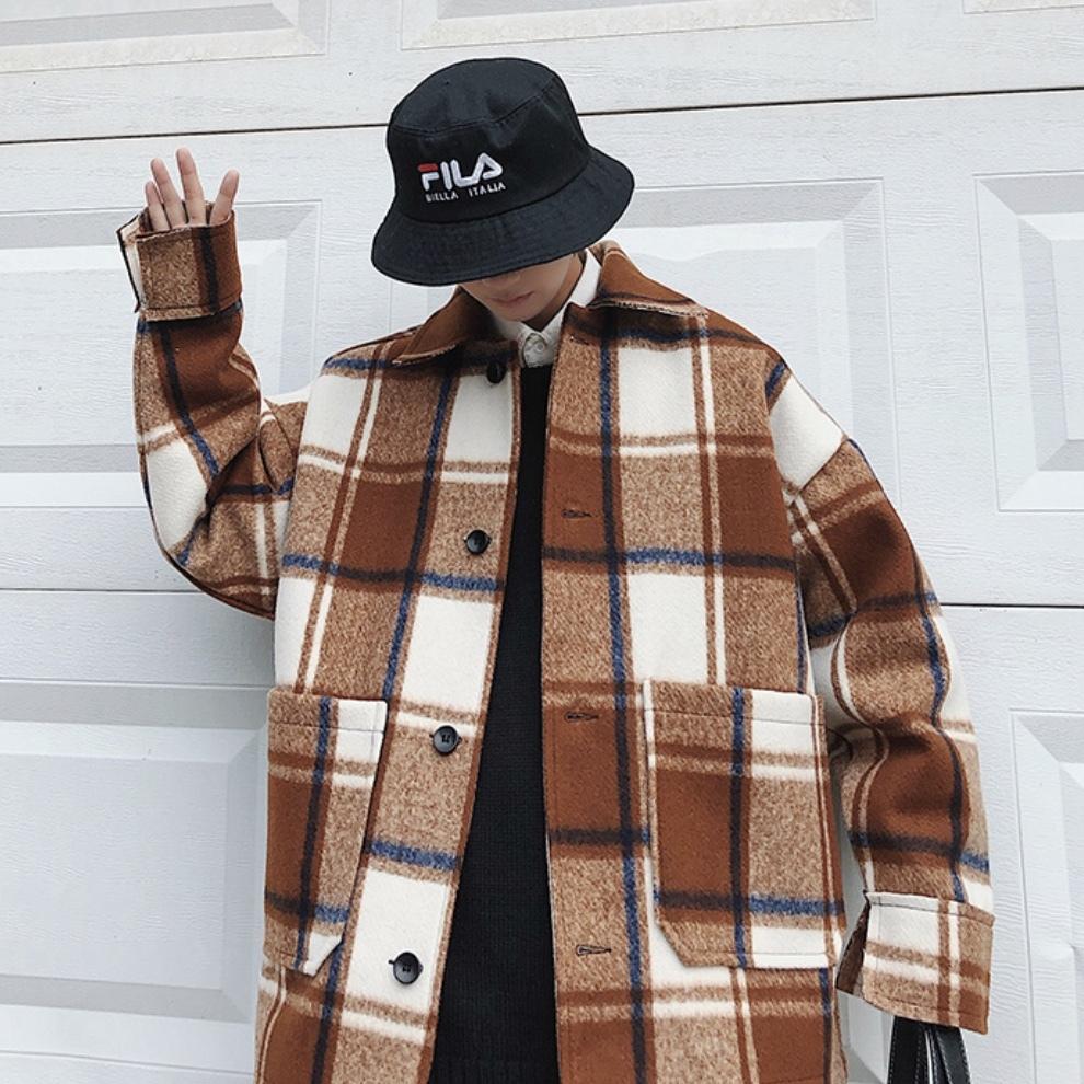 パッチワークジャケットコート メンズ 冬のトレンド