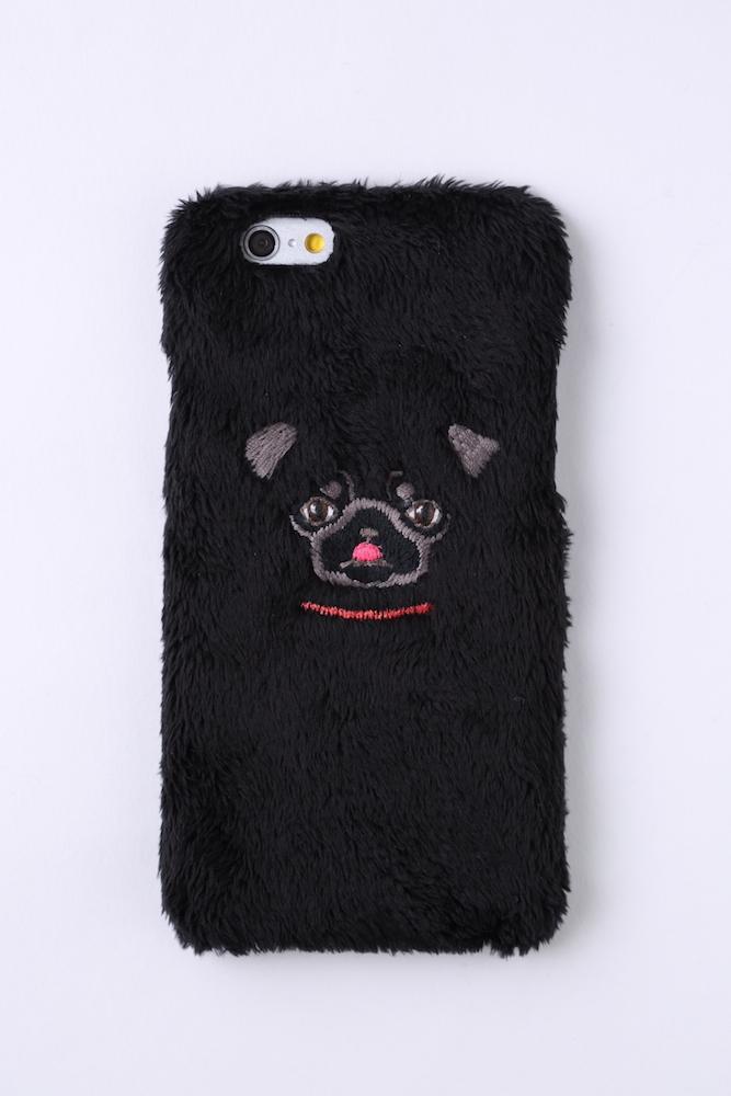 【iPhone6/6S専用】パグiPhone6/6sハードケース【ブラック】
