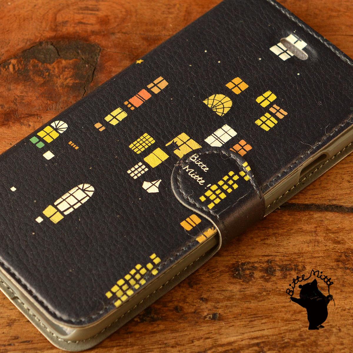 【訳あり】iphone6s ケース 手帳型 アイフォン6sケース 手帳型 おしゃれ iphone6s ケース 手帳 おしゃれ 女子 マグネット 夜のおはなし/Bitte Mitte!【bm-iph6t-08024-B7】