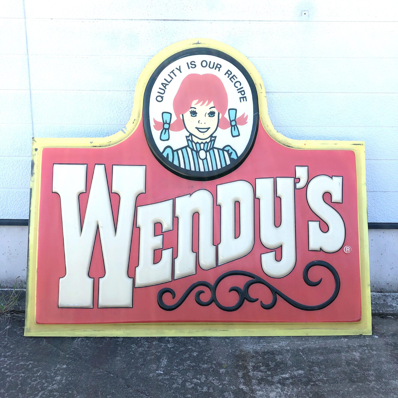 品番2619 Wendy's ウエンディーズ 大型 看板 サイン 広告 ディスプレイ USA ヴィンテージ