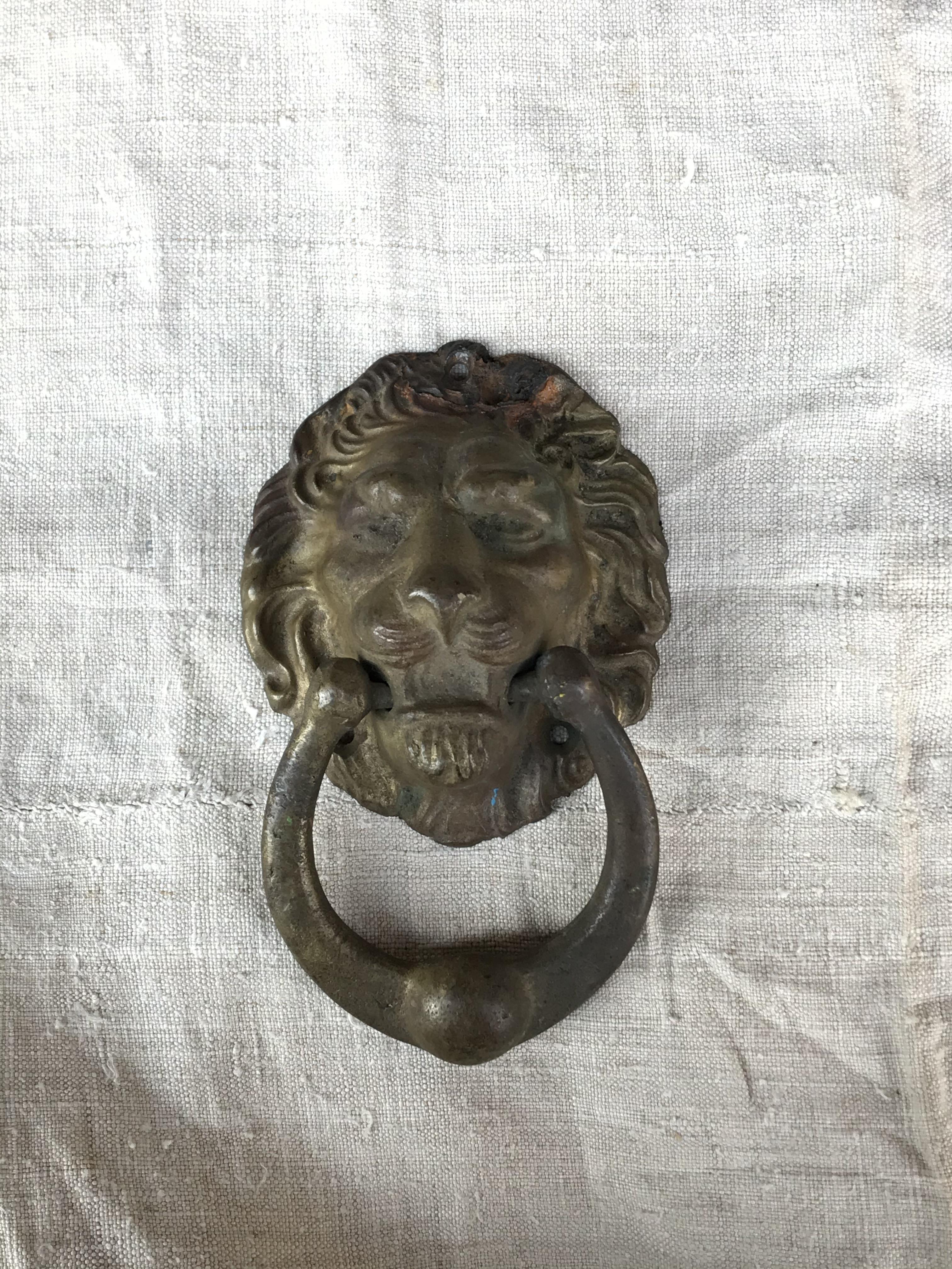真鍮製 ライオンのドアノック ヨーロッパアンティーク