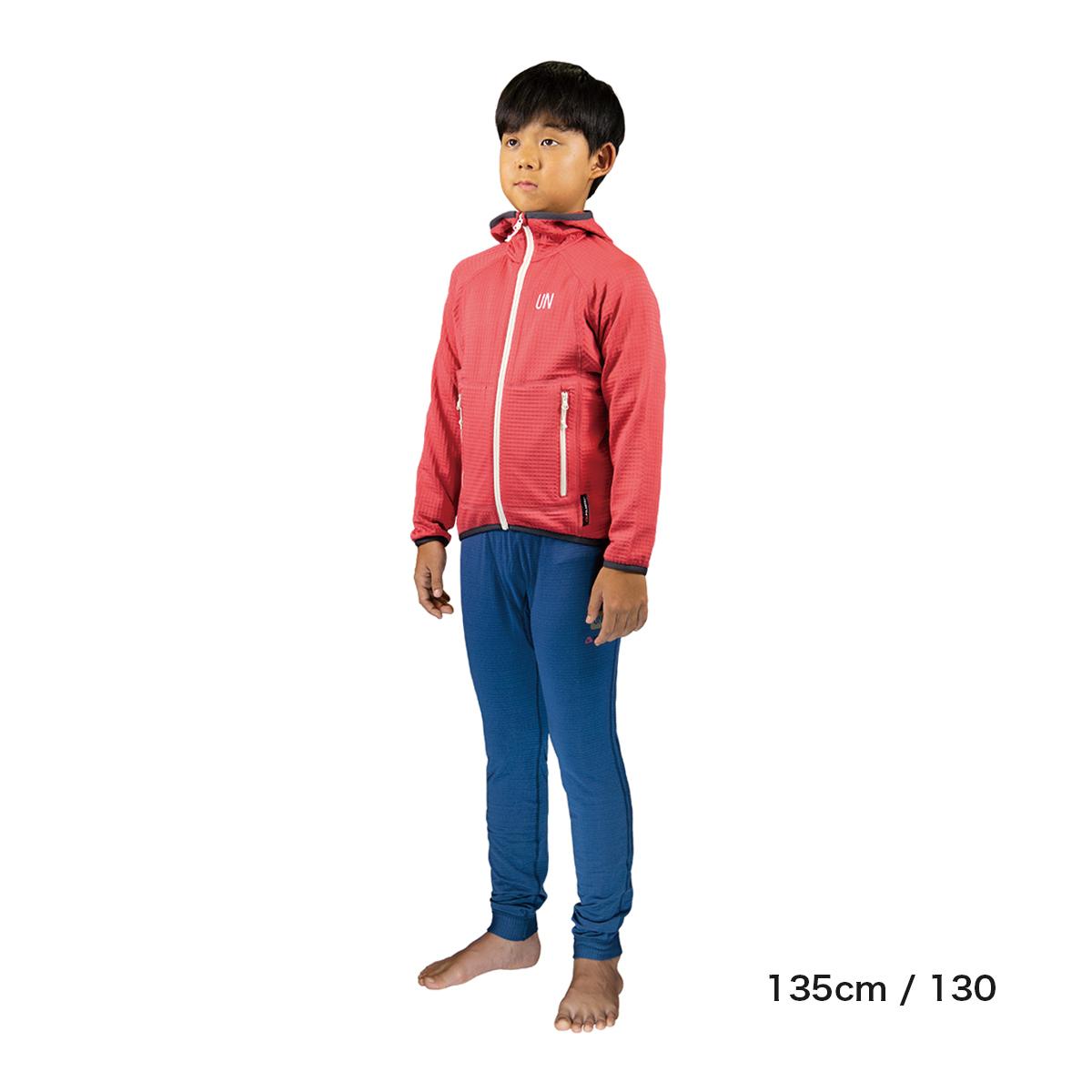 Kids 130 / UN2100 Light weight fleece hoody / Red